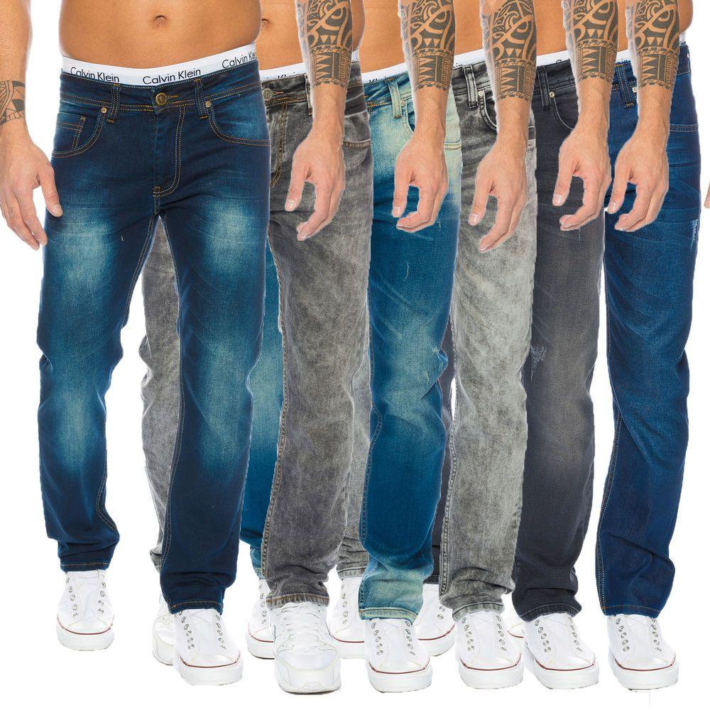 aca6505b95 Rock Creek Designer Herren Jeans Hose Denim Stretch Jeanshose Regular Fit  NEU M1
