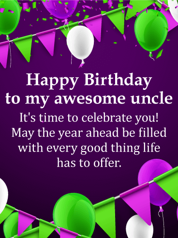 You Are Awesome Happy Birthday Wishes Card For Uncle Your Uncle Is