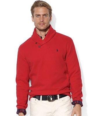 Polo Ralph Lauren Sweater, Shawl-Collar French-Rib Pullover ...