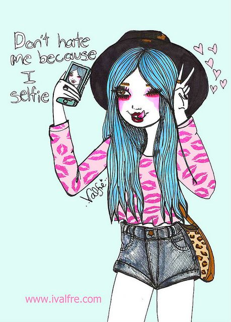 Don't hate me because I selfie by Valfrè, via Flickr
