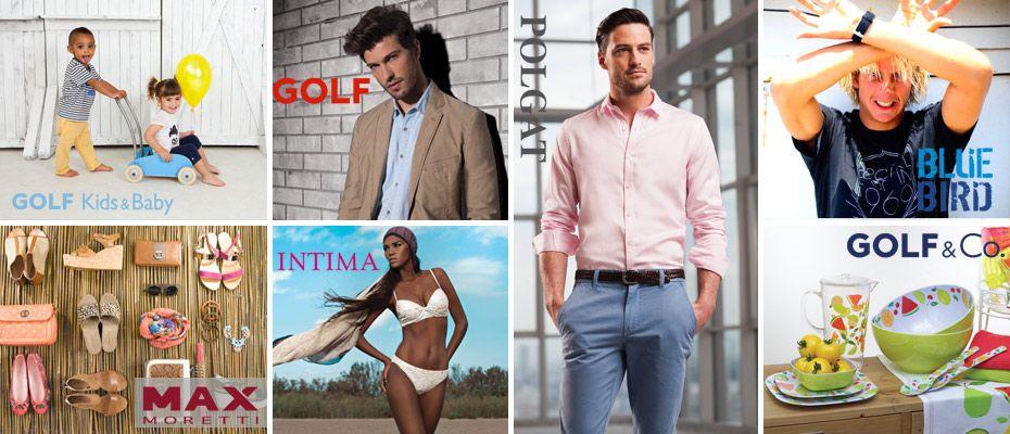 Golf&Co fashion design website made by #exite.