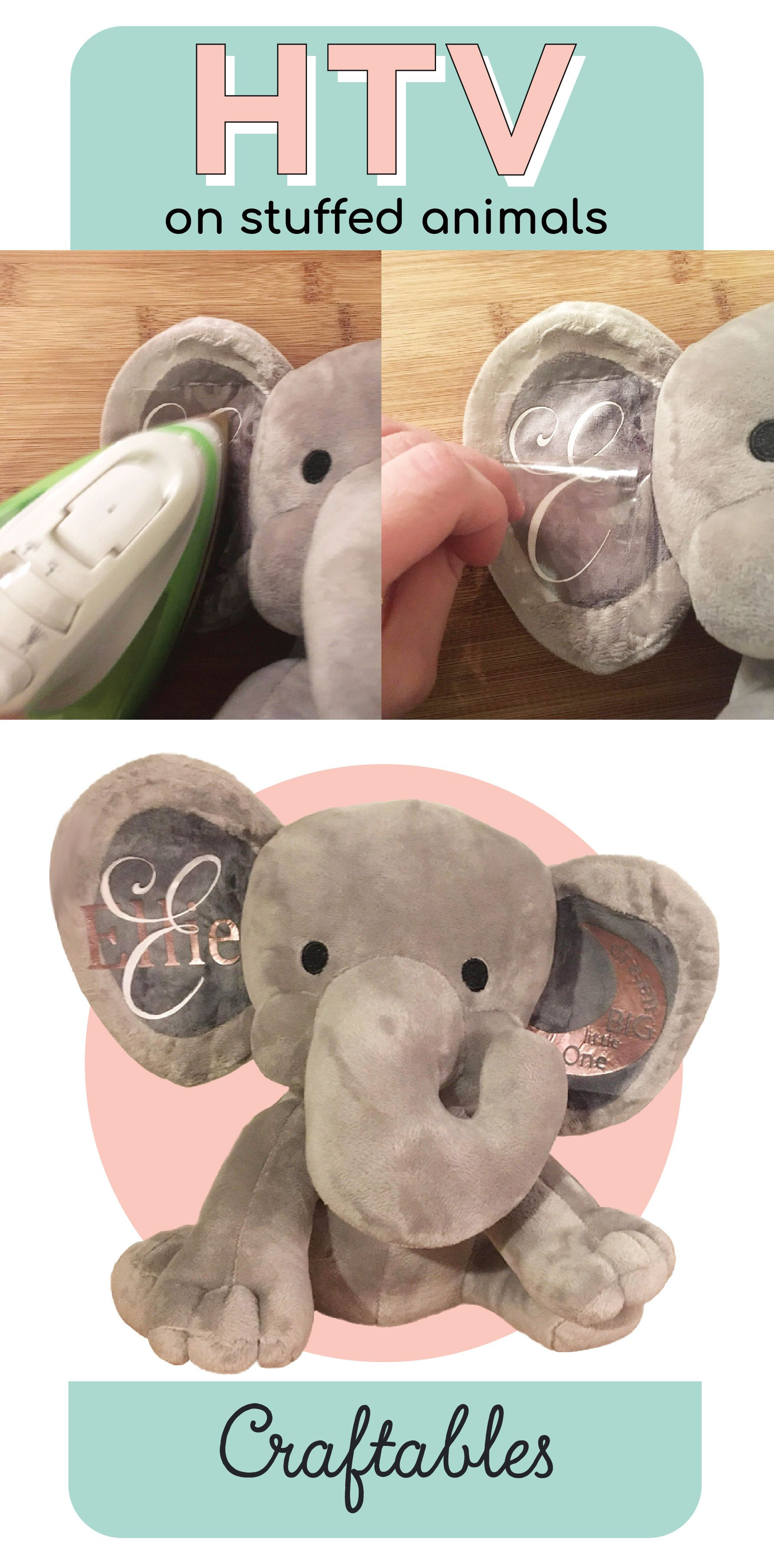 How to iron HTV to a stuffed animal | cricuit/silouette