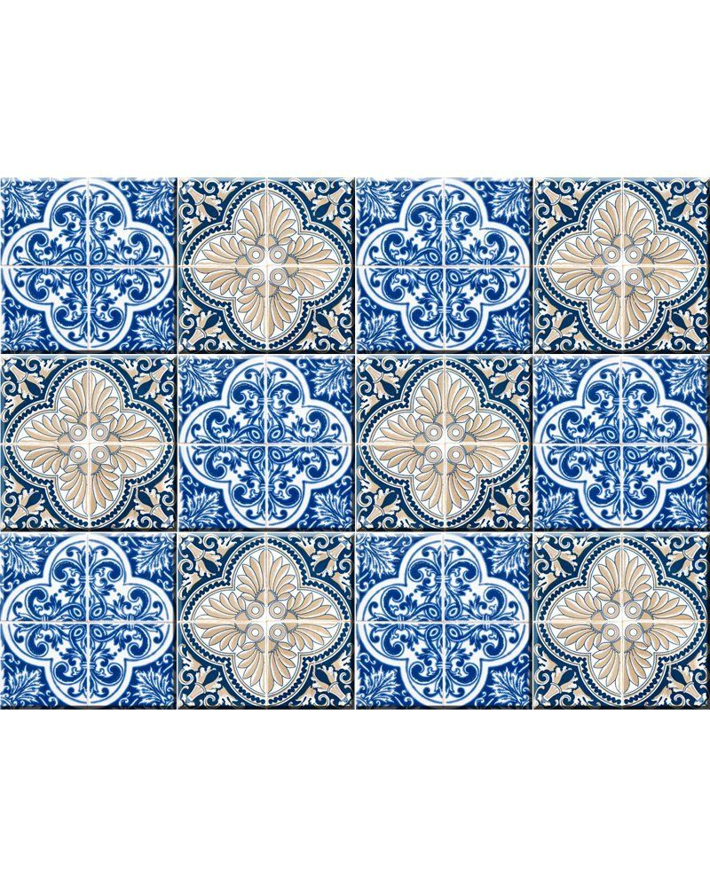 AmazonSmile: Authentic Tile Stickers By Mi Alma 24 PC set Spanish ...