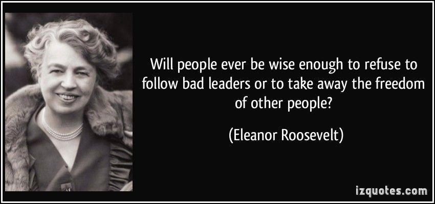 eleanor roosevelt as a leader