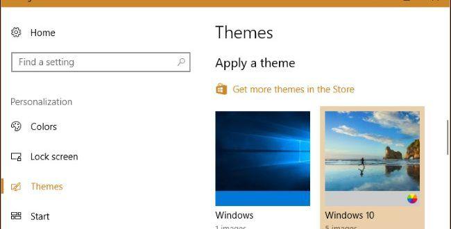 آموزش نحوه نصب تم در ویندوز 10 Home themes, Desktop