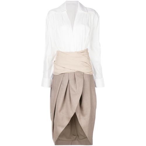 panelled wrap dress - Nude & Neutrals Jacquemus lPyl6gsC