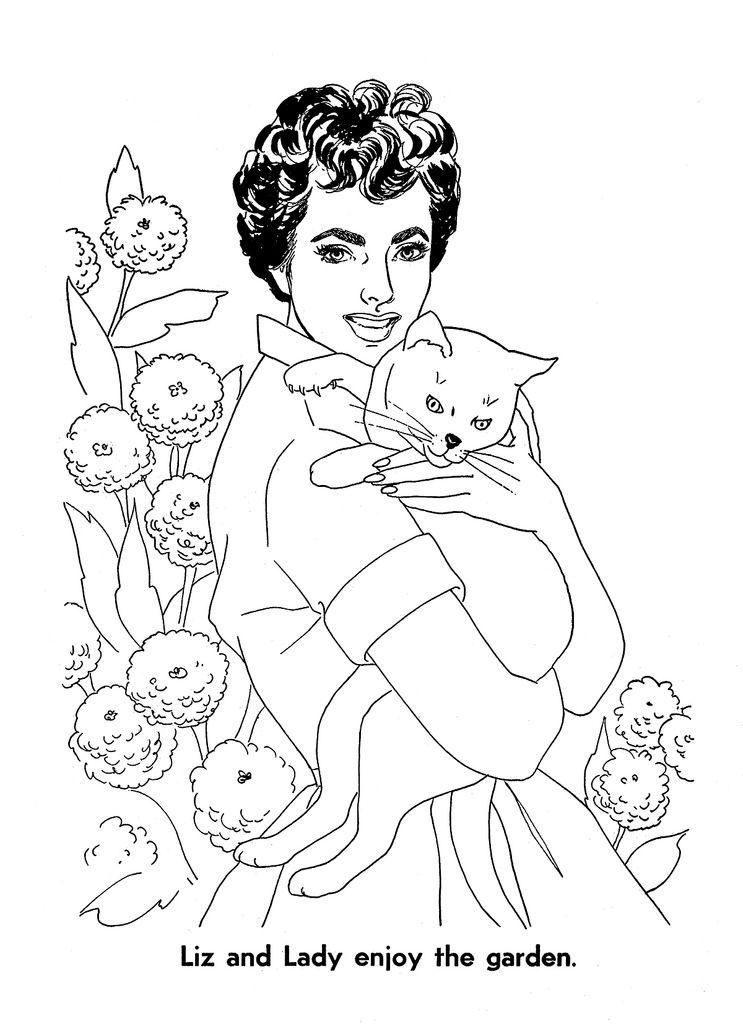 Elizabeth Taylor Coloring Book Page 13 (mit Bildern)
