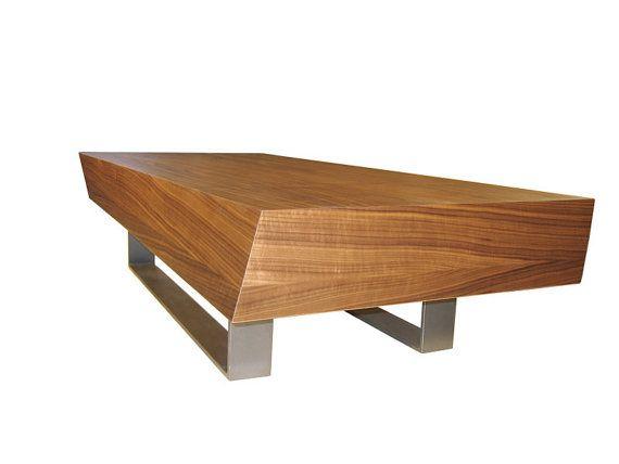 Torque Modern Twisted Wood Coffee Table