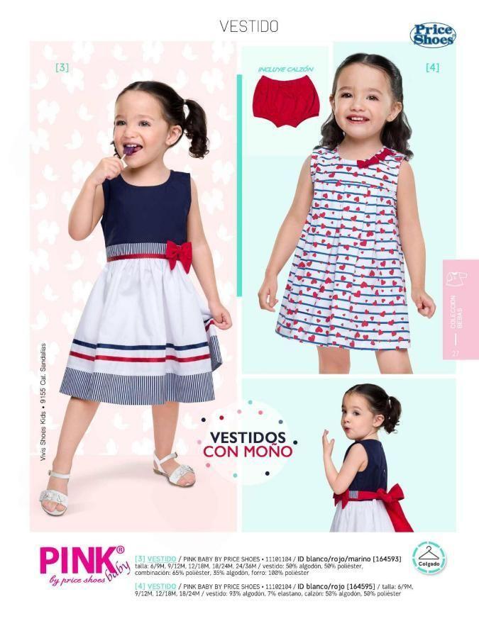55c0586dd Vestido para niñas de Pink Baby, catalogo Price Shoes. Vestido de moda para  niñas, vestidos para el verano