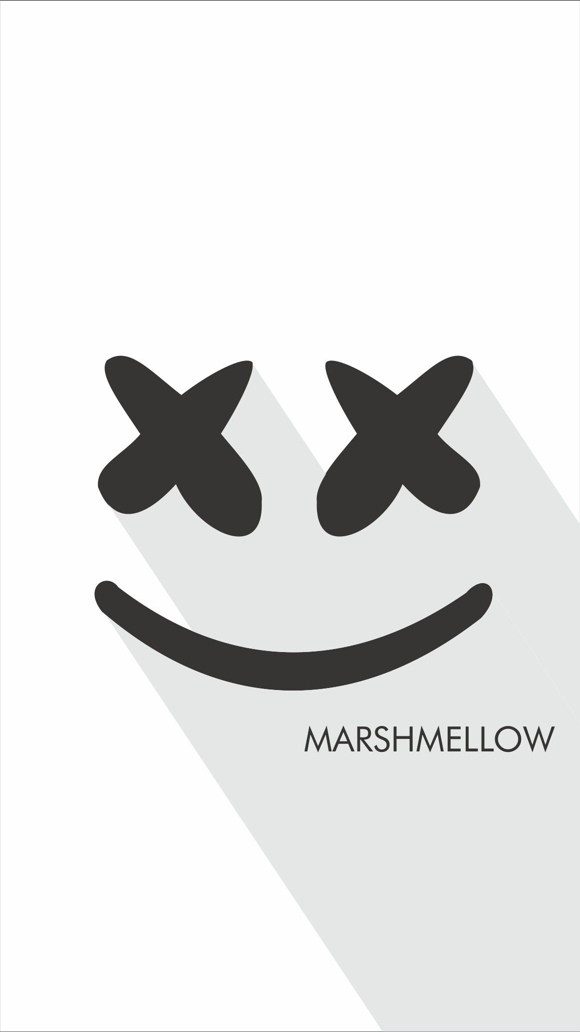 Love Marshmello Love Edm Marshmello Edm Flat Art Wallpaper
