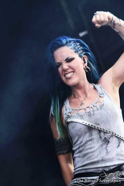 Alissa White-Gluz. This lady is a head banger