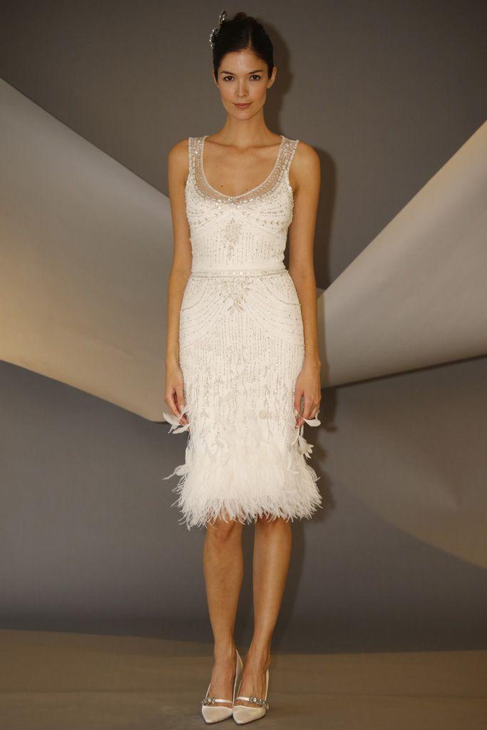 vestido de novia corto de carolina herrera años 20 (fw 2014