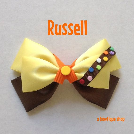 russell hair bow by abowtiqueshop on Etsy