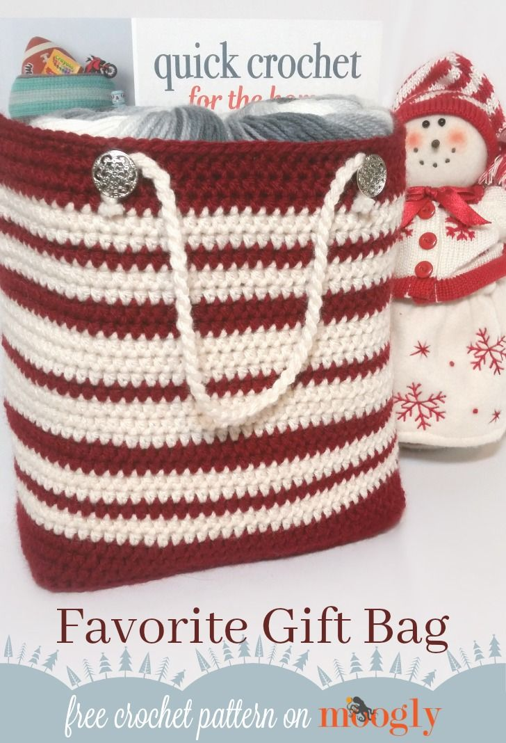 Favorite Gift Bag | Crochet | Crochet, Crochet patterns, Free crochet