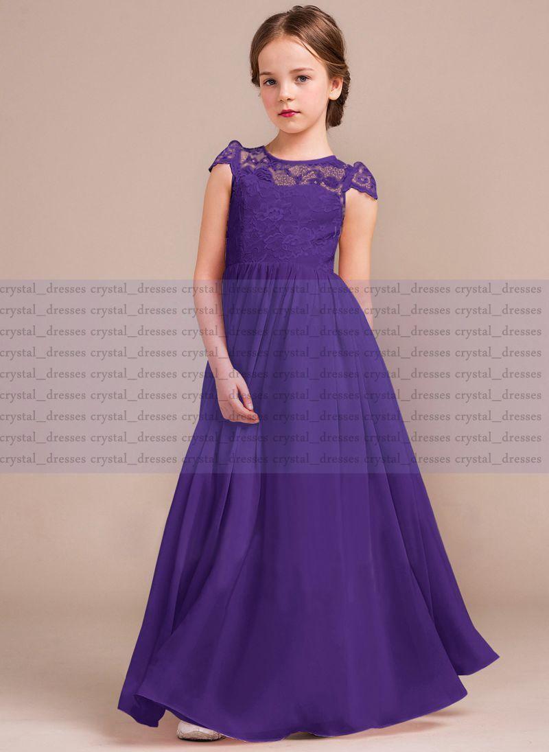 New Lace Formal Princess Flower Girl Dress Junior Wedding