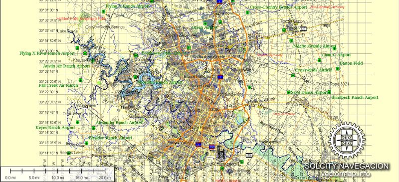photograph relating to Printable Map of Austin identify Austin Map Vector Texas printable Atlas 49 areas vector