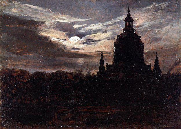 The Frankenkirche, Dresden: 1840