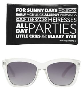 Image 2 of Warehouse Crystal Matt Arms Sunglasses