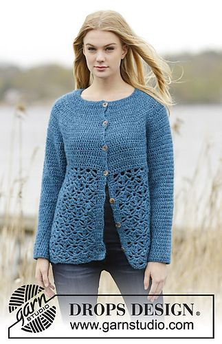 Ravelry: 164-33 Lakeside Cardigan pattern by DROPS design | Häkeln ...