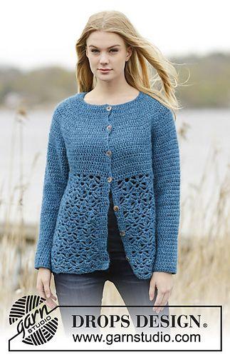 Ravelry: 164-33 Lakeside Cardigan pattern by DROPS design | Crochet ...
