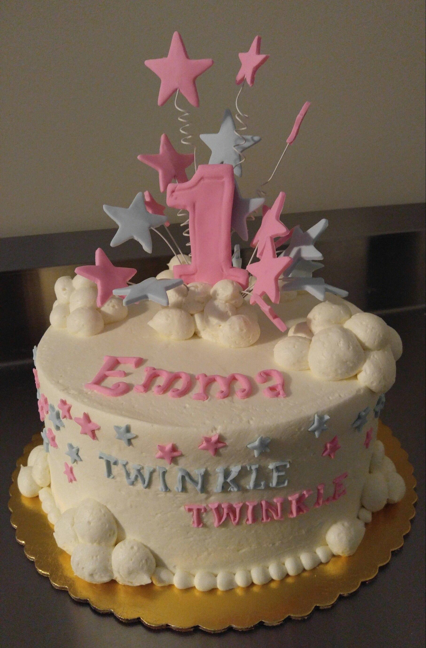 Twinkle Star And Clouds Birthday Cake, Vintagebakerycom 803 386 8806