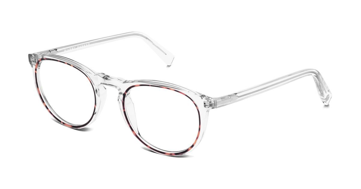 94e6fb47a5 Haskell Eyeglasses in Crystal And Maple for Women. What do you get when you  combine