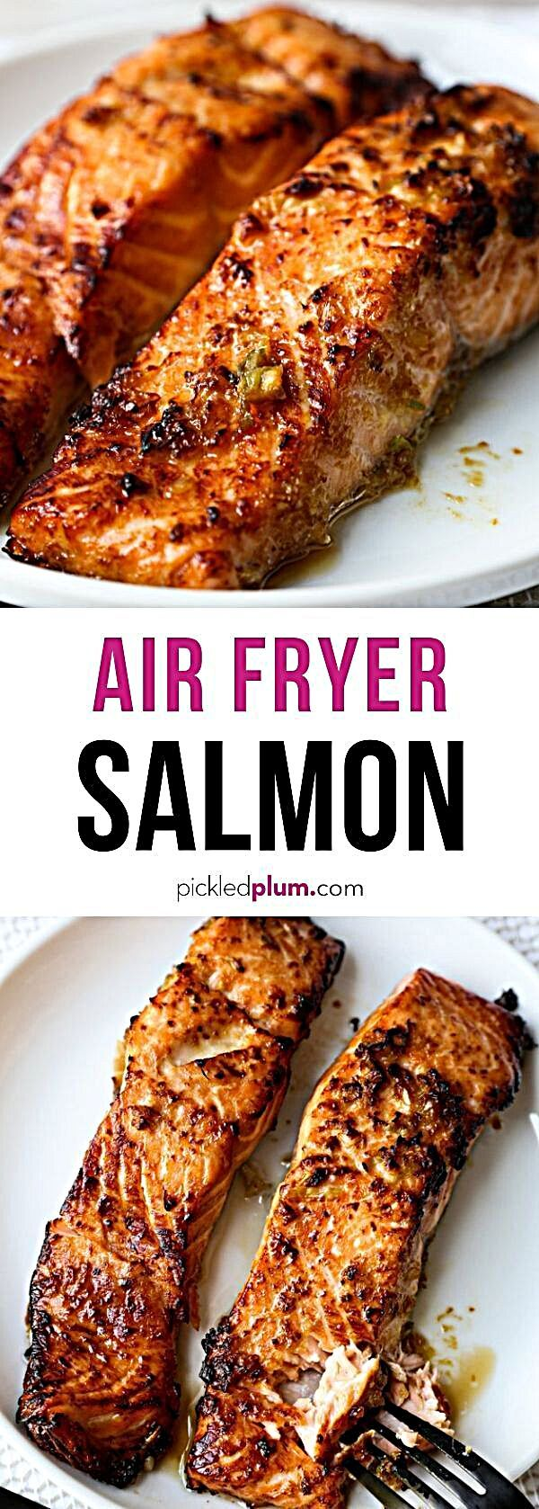 Marinated in a simple ginger garlic sauce, these salmon fillets are crispy on the outside and perfec...