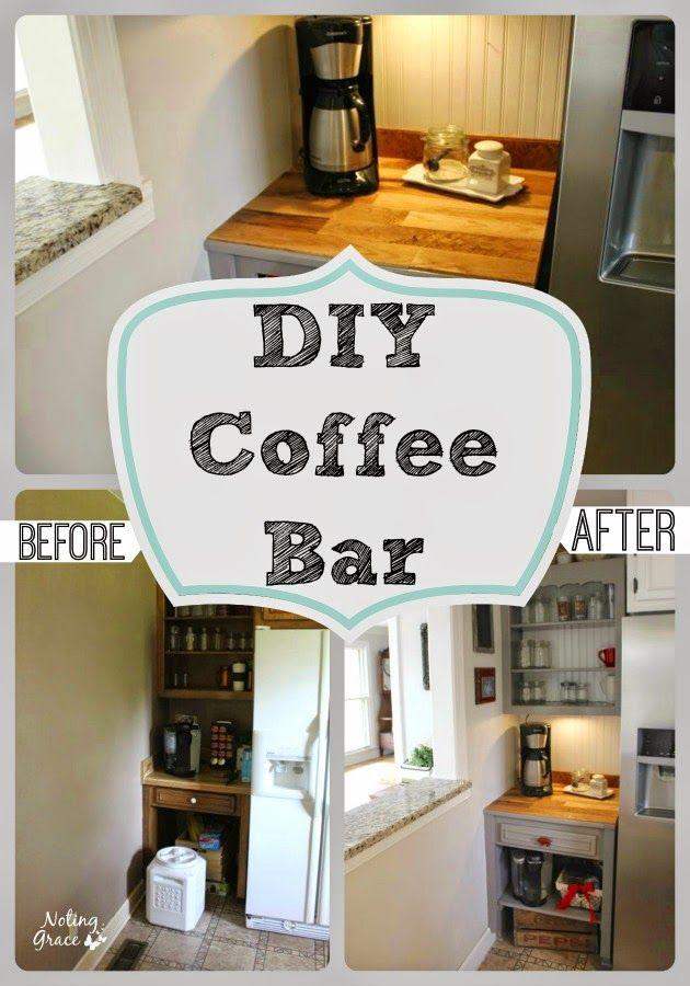Farmhouse Kitchen Remodel - The Coffee Bar | Farmhouse kitchens ...