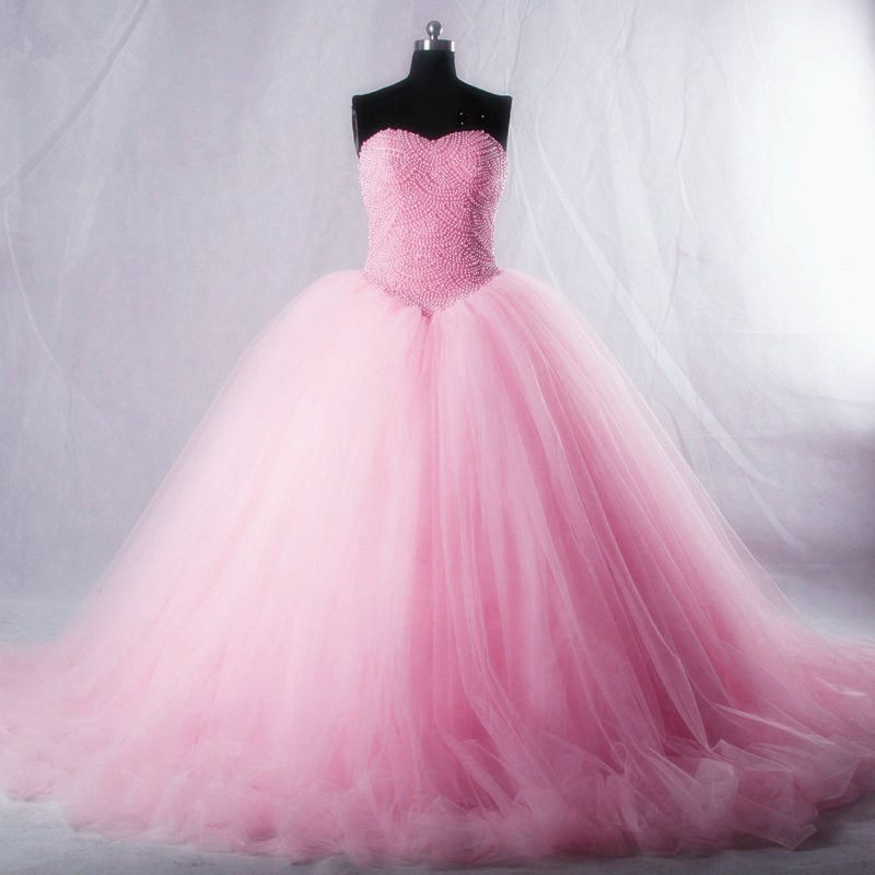 Pink Tulle Ball Gown