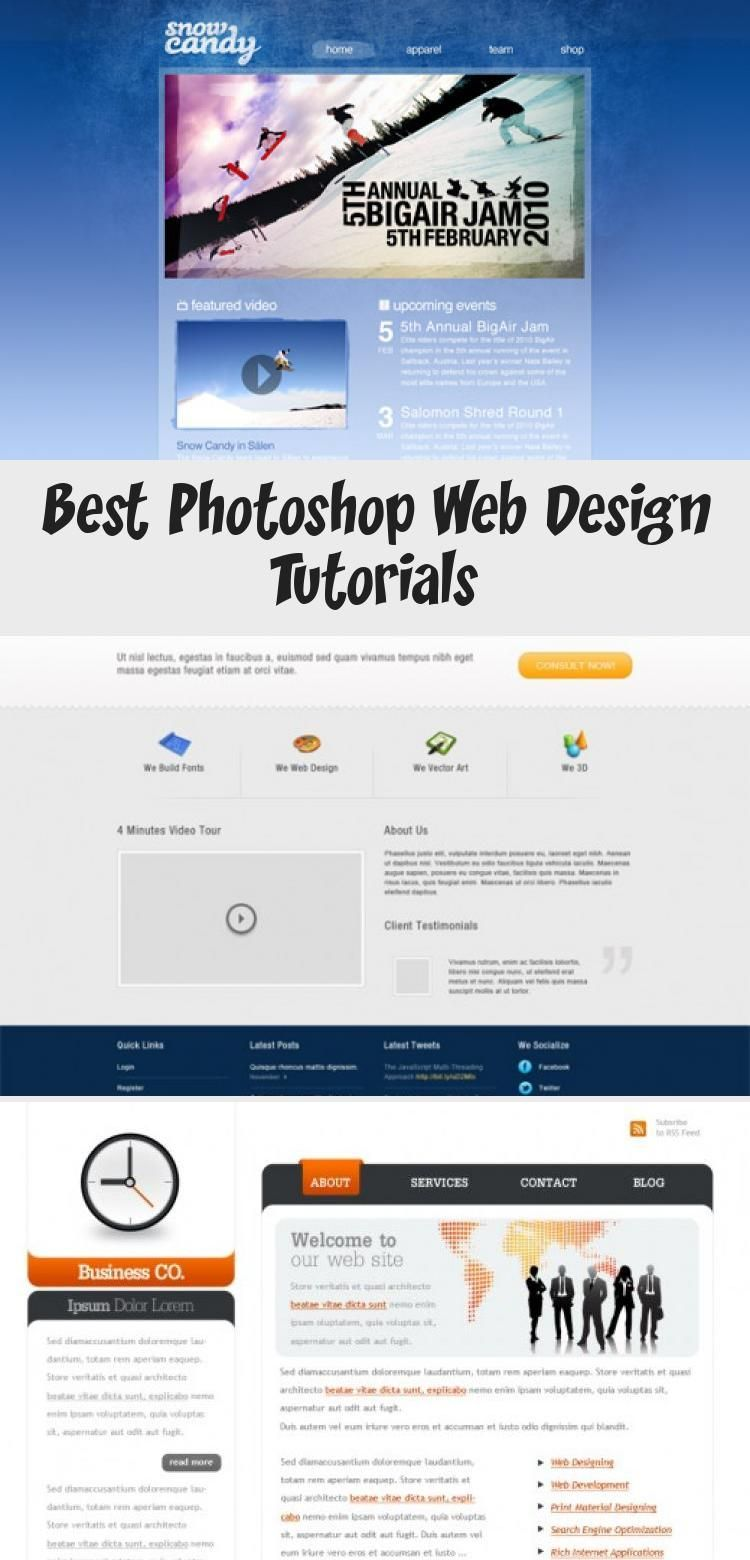 Best Photoshop Web Design Tutorials Photoshop Web Design Web Design Tutorials Photoshop Web