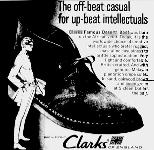 Clarks Dessies Up beat intellectual wear. Cool, that's me