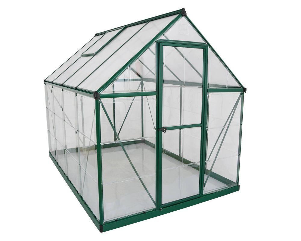 Best Palram Hybrid 6X8 Green Polycarbonate Greenhouse 400 x 300