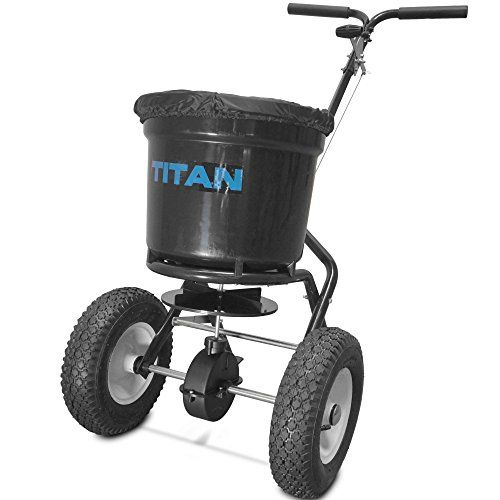 Titan 50 Lb Professional Broadcast Spreader For Lawn Fertilizer Seed You Can Get Additional Details At The Image Link Lawn Care Lawn Care Tips Seeding Lawn