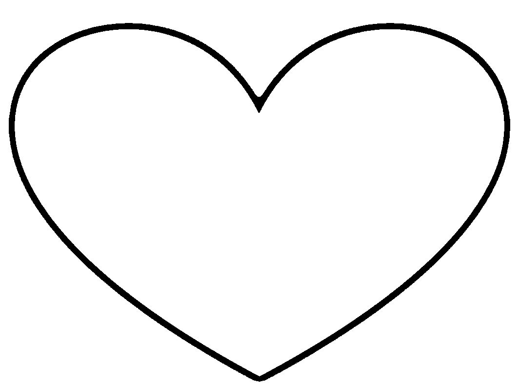 It is a photo of Hilaire Large Heart Template Printable