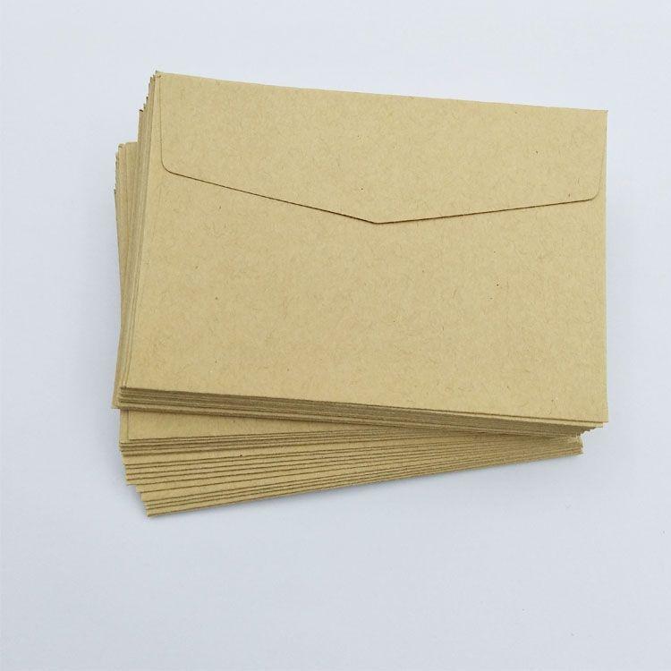 Custom Credit Size Card Small Card Kraft Paper Envelopes With Window View Kraft Paper Envelope Custom Print Gift Packaging Cardboard Paper Envelope Oem Produc Paper Envelopes Small Card Envelope Paper Cards