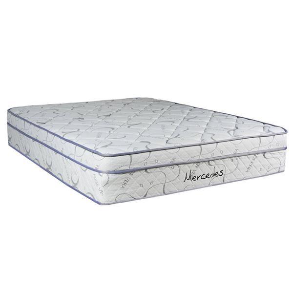 Queen Continental Sleep Memory Foam Gel 8-Inch Semi Flex Split Box Spring Fabric Stretch Knit Grey