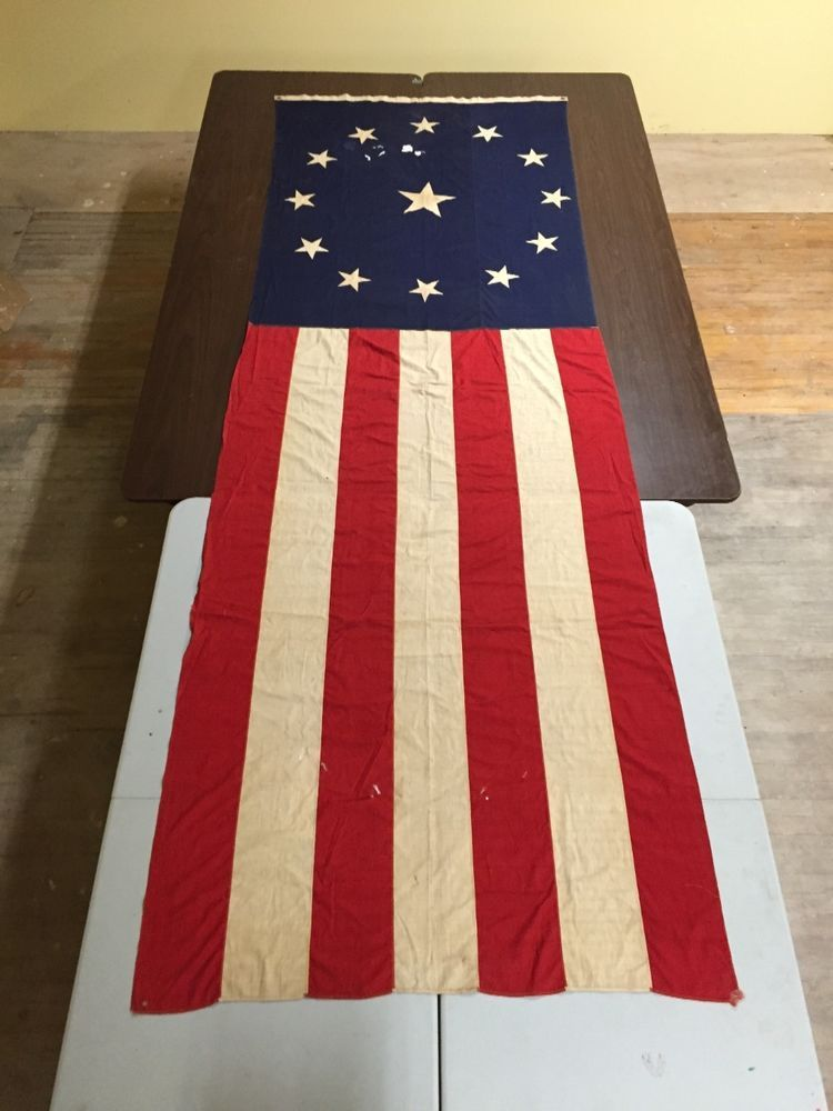 Antique 13 Star Centennial American Flag