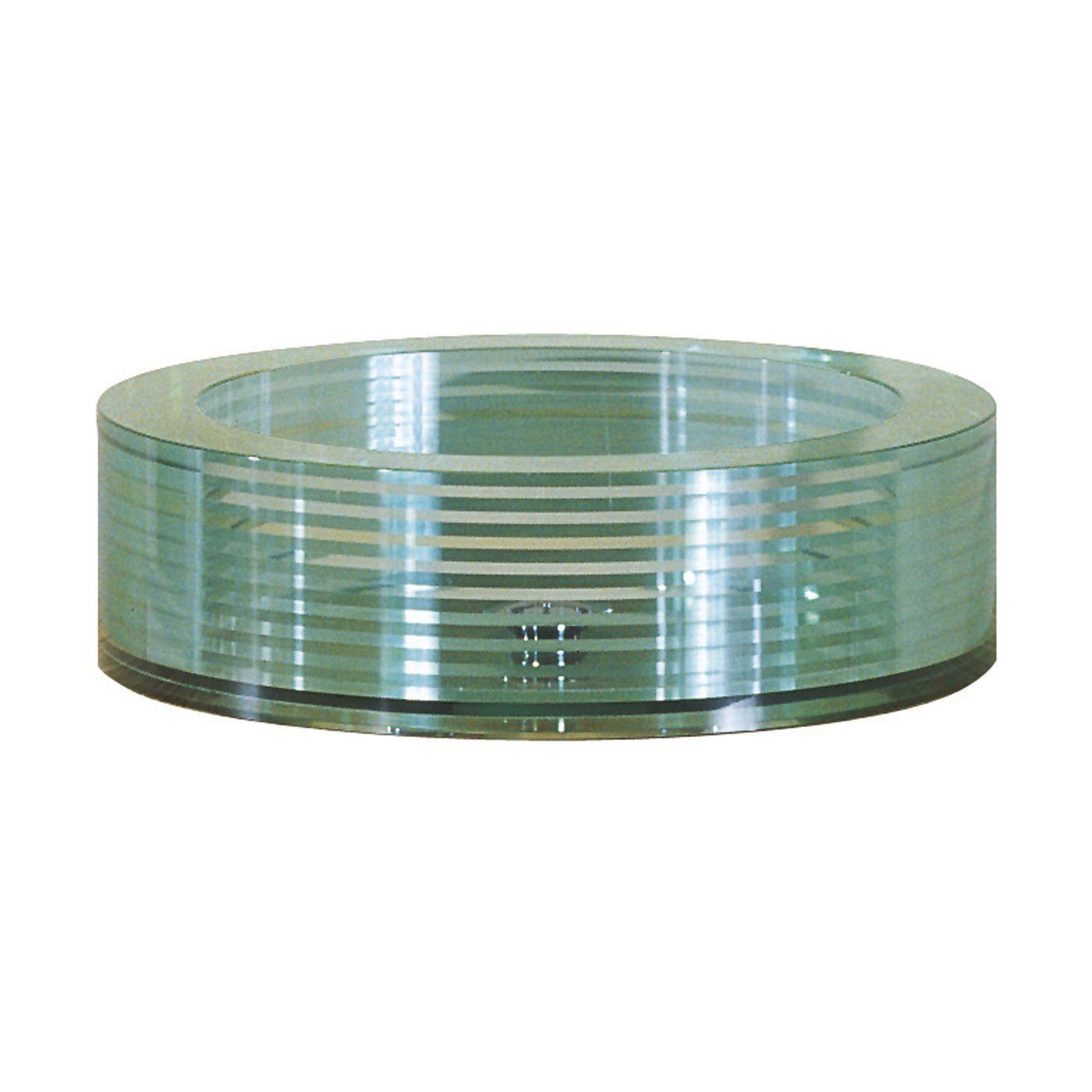 Bathroom Sinks Lowes Canada avanity gve450rd round tempered segmented glass vessel sink