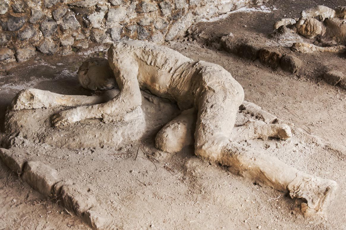 Frozen In Time Casts Of Pompeii Reveal Last Moments Of Volcano