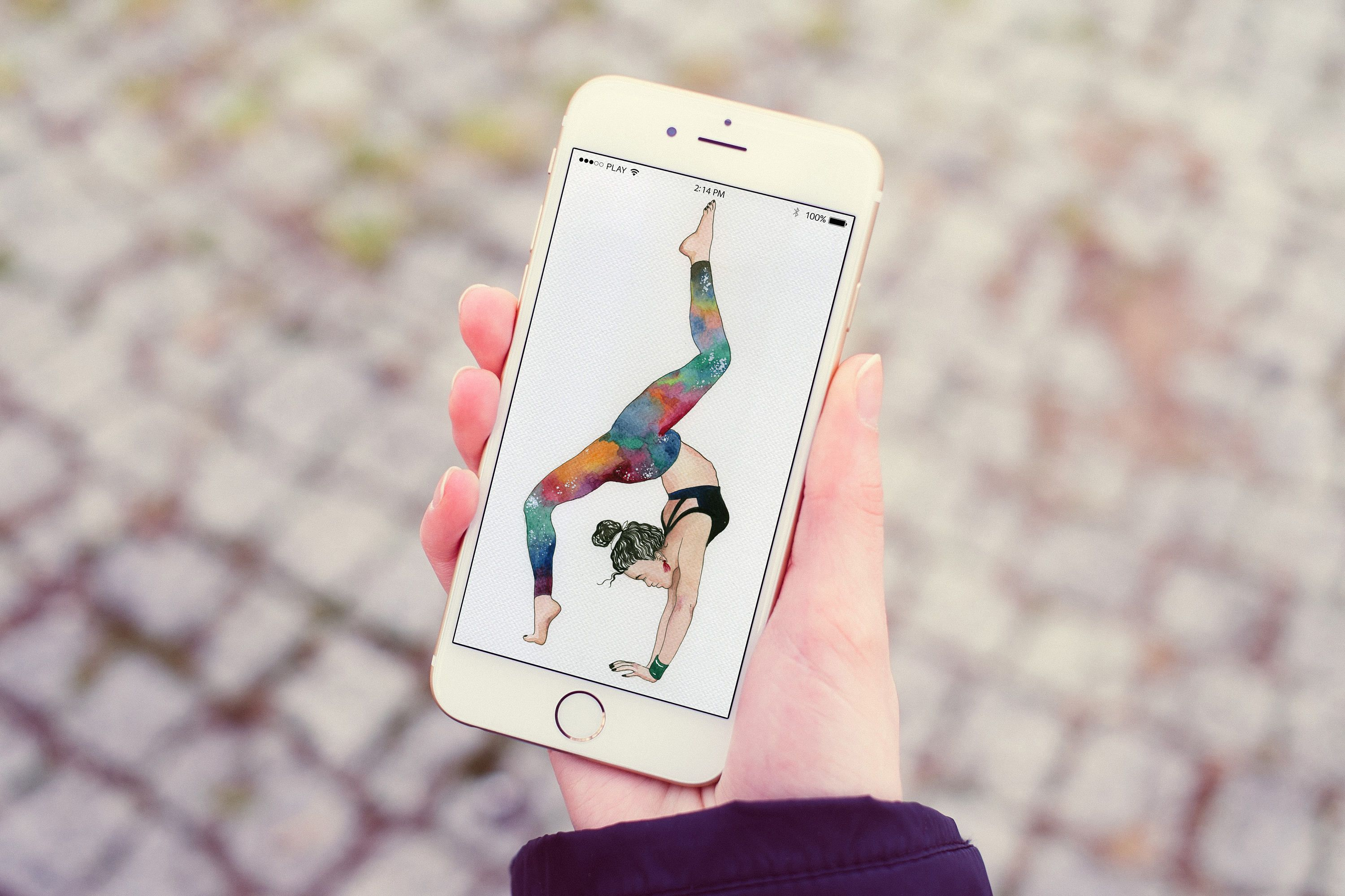 Yoga girl in space leggins! Iphone Wallpaper, Lock Screen Wallpaper, Cell Phone Wallpaper