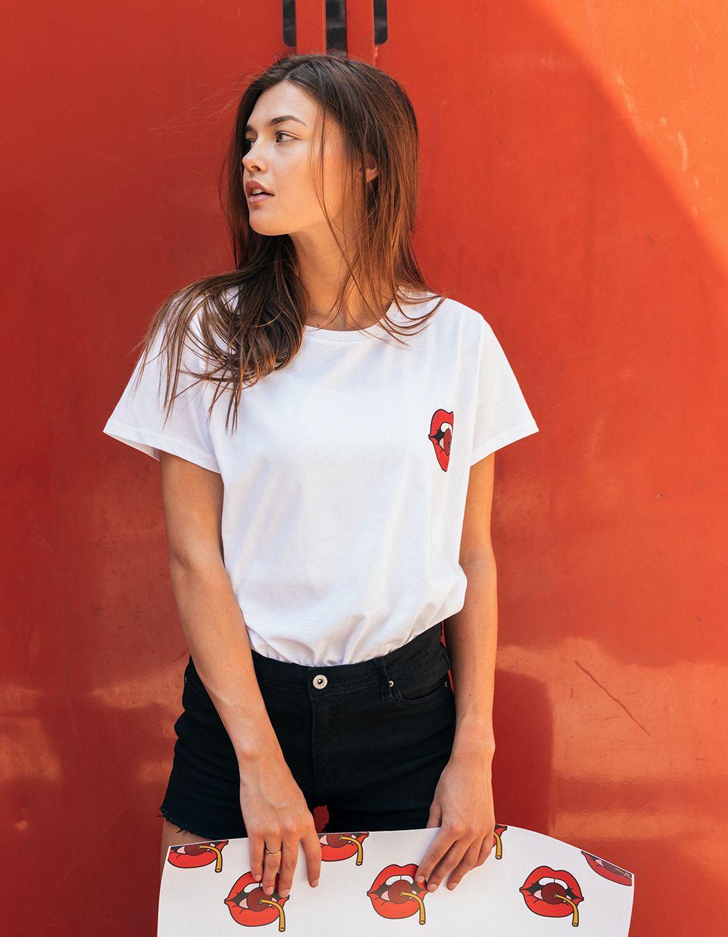 1acf3c814 LIPS. #fashion #editorial #photography #model #new #tees #whiteshirt ...