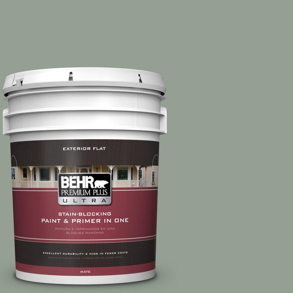 BEHR Premium Plus Ultra 5-gal. #N400-4 Forest Path Flat Exterior Paint