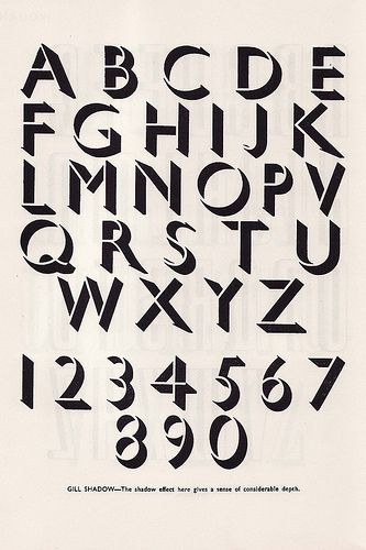 Gill Shadow By Eric Gill 1927 Lettering Design Typography Alphabet Lettering Fonts