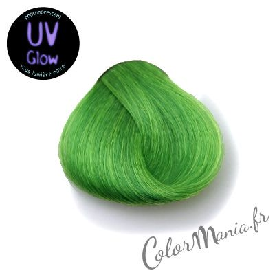 "Coloration Cheveux Vert UV ""UV Green"" Stargazer   Color-Mania.fr"
