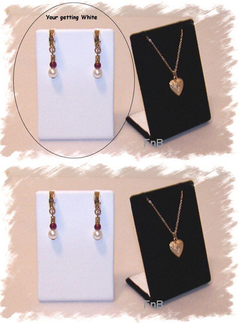 NEW 3PC Pendant earrning jewelry Gift Boxes Black VELVET