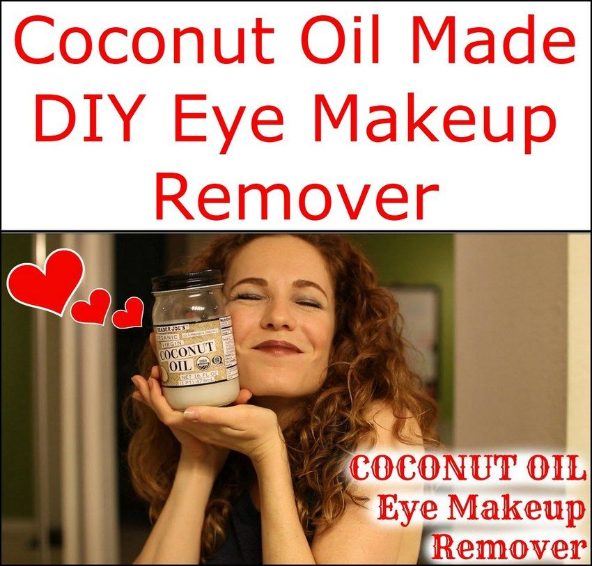 Coconut Oil Made DIY Eye Makeup Remover Diy makeup