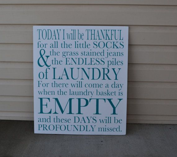 Laundry Room Sign White Wood Hand Painted Custom Art Paintings Home Decor Inspirational Quotes Large Housewarming