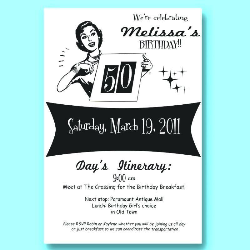 free funny 50th birthday invitation