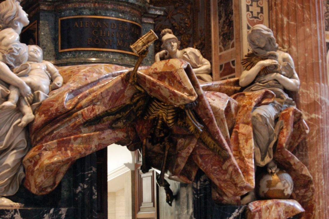 Bernini tomb tribute to pope alexander chigi saint