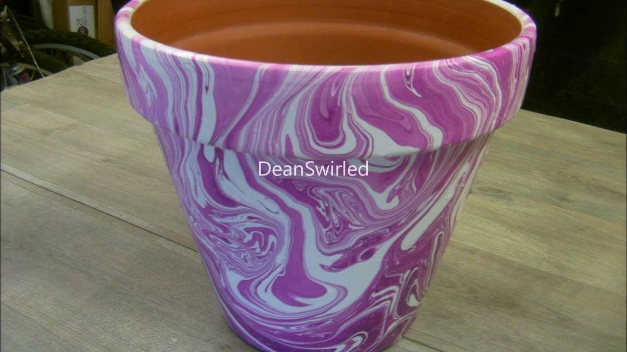 Swirling Large Terracotta Flower Pot Swirl Terracotta